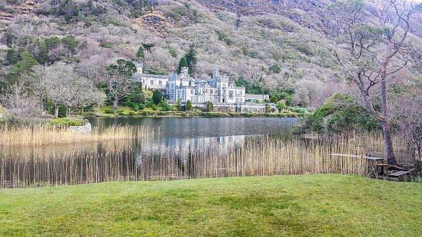 Mountain, Landscape, Nature, Ireland, Castle