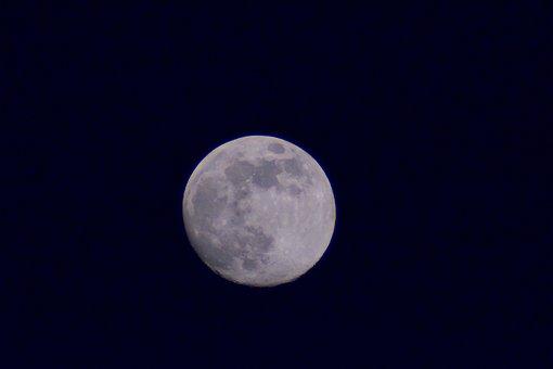 Moon, Night, Sky, Nature, Light, Dark, Moonlight, Full