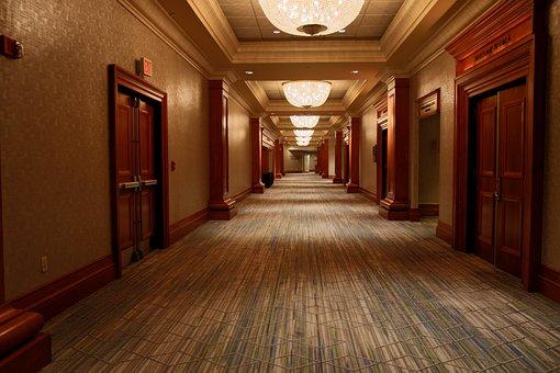 Hotel, Corridor, Conference, Architecture, Hallway