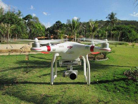 Drone, Phanton, Lagoon Tiririca, Lake, Water, Trees