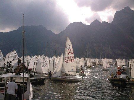 Sailing, Regatta, Lake, Italy, Water, Boat, Sport