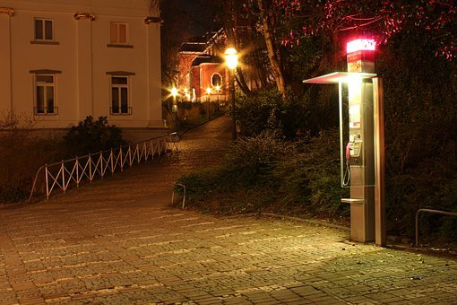 Phone Booth, Night, Long Exposure, Lichtspiel