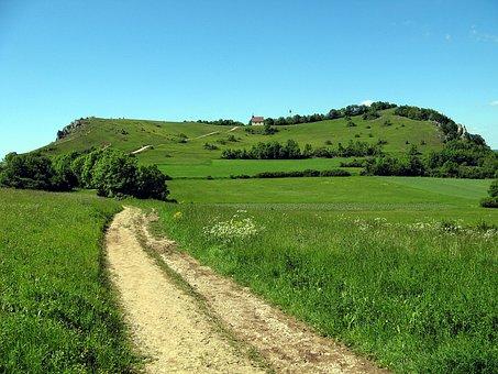 Meadow, Away, Table Mountain, Mountain