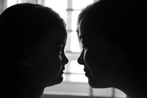 Mother And Daughter, Love, Mirror, Family, Mother