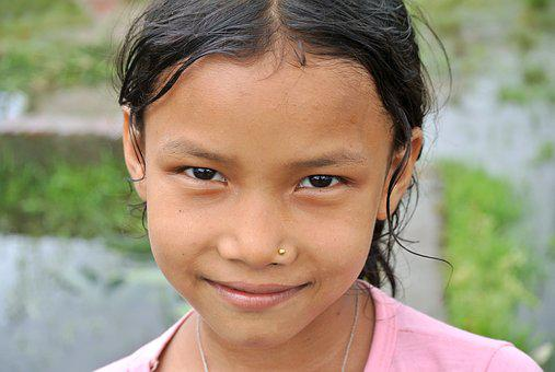 Nepalese, Child, Girl, Portrait, Young, Face, People