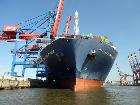 Ship, Port, Container, Export, Freight, Business