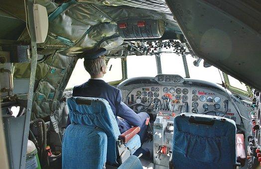 Vintage Aircraft, Cockpit, Captain, Uniform