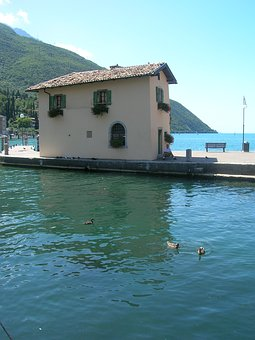 Italy, Lake Garda, Water, Europe, Lake, Alps, Landscape
