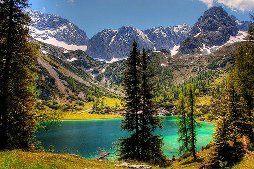 Seebensee, Tyrol, Bergsee, Mountains, Idyll