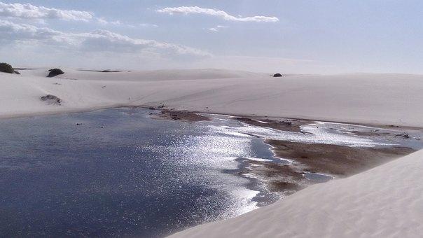 Lençóis Maranhenses, Brazil, Pond, Dunes