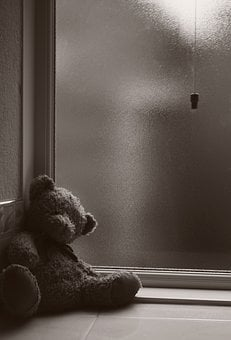 Teddy, Alone, Abandoned, Cold, Bear, Toy, Childhood