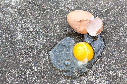 Color, Egg, Broken