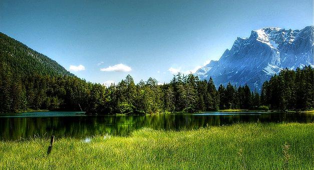 Zugspitze, Alpine, Landscape, Summit, Mountains, View