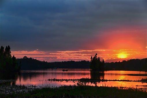 Sunset, Evening, Twilight, Colors, Sky, Nature