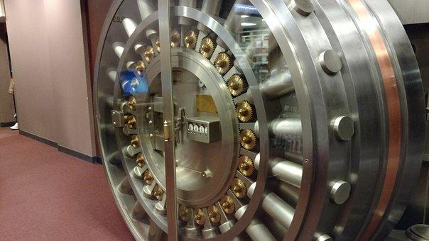 Vault, Vault Door, Bank, Safe, Security, Steel, Lock