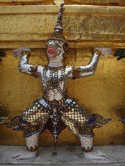 Thailand, Temple, Art, Bangkok, Temple Complex, Asia