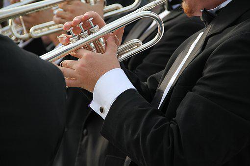 Trumpet, Tuxedo, Orchestra, Band, Musician, Performance
