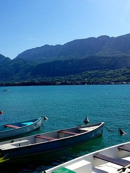 Lake, Annecy, Boat, Annecy Lake, Water, Alps