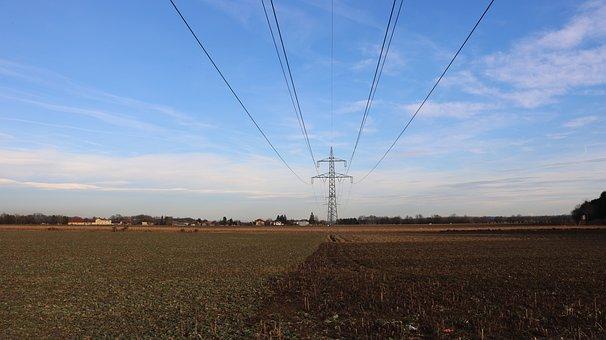 Sky, Power Line, Blue, Clouds, Blue Sky, Nature