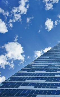 Skyscraper, Blue, Building, Great, City, Architecture