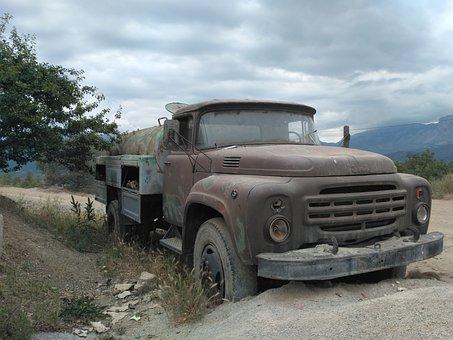 Truck, Old, Bad Condition, Retro, Vintage, Broken
