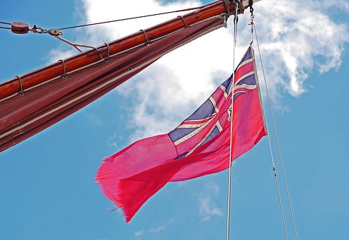 Flag, Jersey, Great Britain, Channel Island