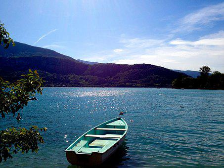 Calm, Lake, Annecy, Nature, Water, Landscape