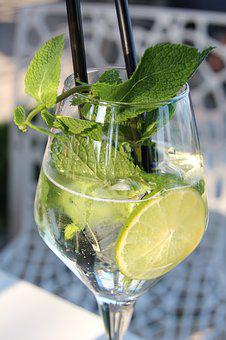 Mint, Lime, Cocktail, Refreshment, Drink, Ice