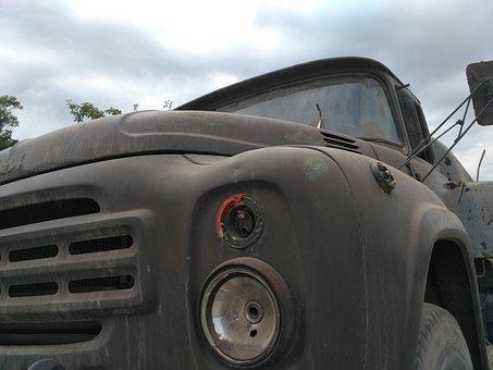 Truck, Old, Broken, Vehicle, Auto, Retro