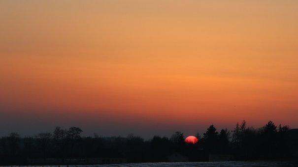 Sunset, Orange, Summer, Red, Evening Sky, Orange Sky