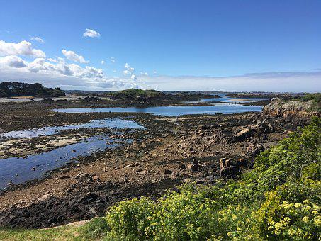 Brittany, Island Bréhat, Sea, Ile, Wild, Sky, Landscape