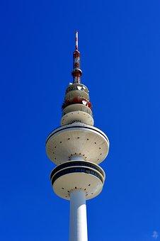 Hamburg, Tv Tower, Architecture, Sky, City, Radio Tower