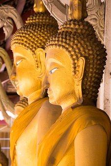 Religion, Buddha, Monks, Thailand, Buddhism