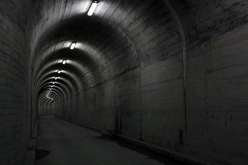Tunnel, Concrete, Light, Architecture, Underpass, Lamps