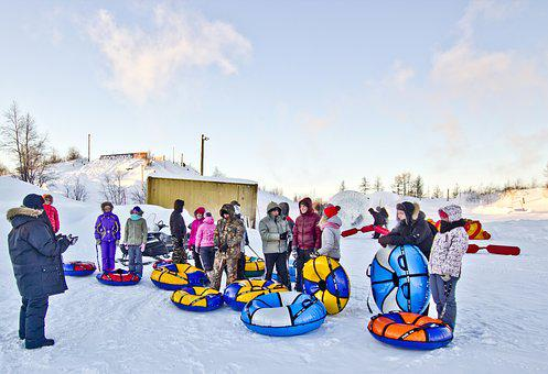 Kids, Snow, Winter, Fun, Sled, Nature, Frost, Games