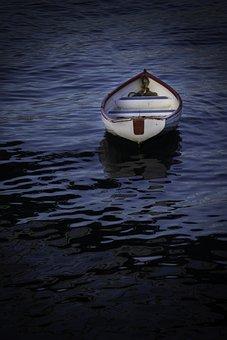 Boat, Sea, Adrift, Water, Marine, Vessel, Sail