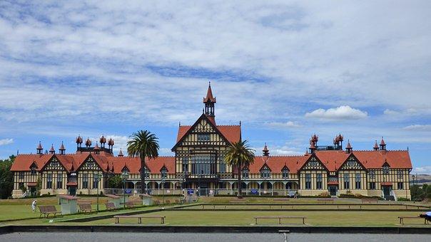 Rotorua, New Zealand, Landmark, Architecture, Building