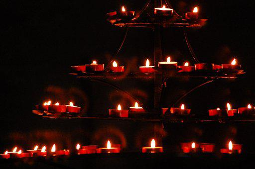 Candles, Church, Candle, Prayer, Memory, The Darkness