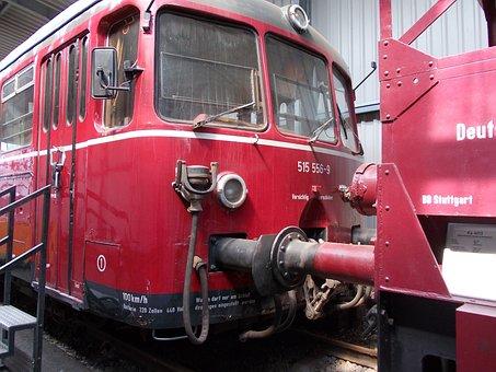Railway Train Red, Dampflokomitive, Seemed, Track
