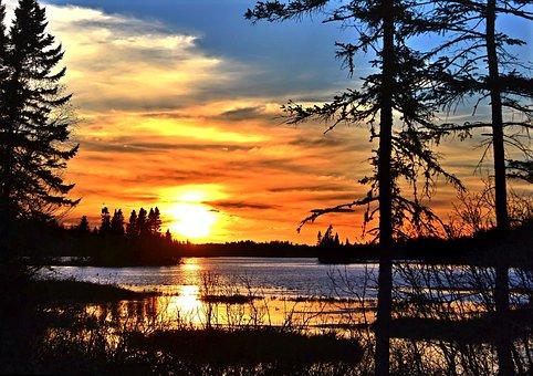 Sunset, Evening, Sun, Twilight, Clouds, Colors, Sky