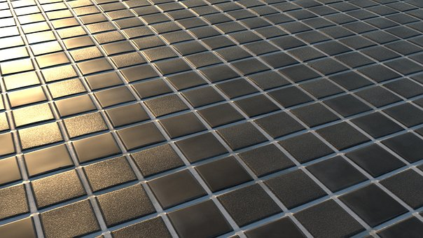 Tile, Golden Hour, Sunset, 3d, Black