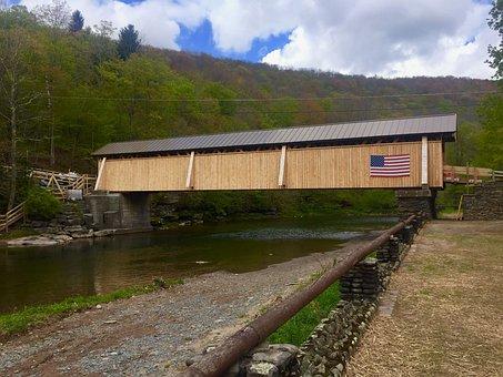 Covered Bridge, Beaverkill, Livingston Manor, Ny