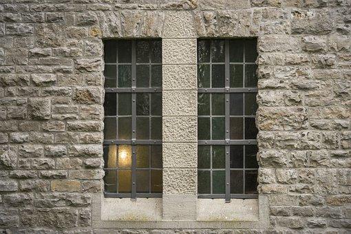 Architecture, Window, Shimmer, Seem, Light, Grid, Old
