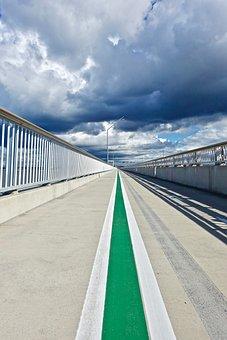 Perspective, Bike Track, Road, Sky, Distance
