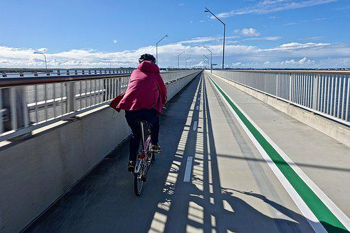 Rider, Bicycle, Perspective, Bike Track, Road, Sky