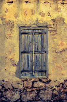 Window, Wooden, Old, Aged, Weathered, Rusty, Wall