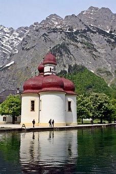 Chapel, Königssee, Alpine Hiking, Trekking