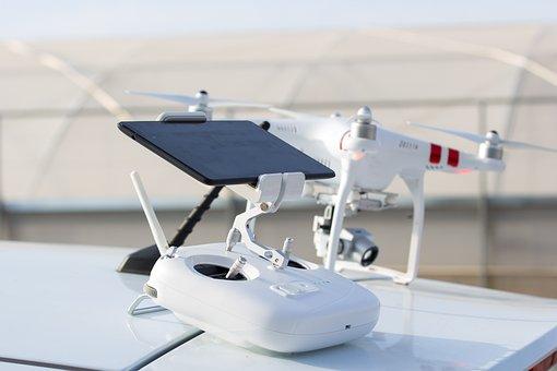 Drone, Remote Control, Antennas, Radio Control