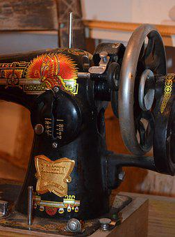 Sewing Machine, Old Sewing Machine, Antique, Sew