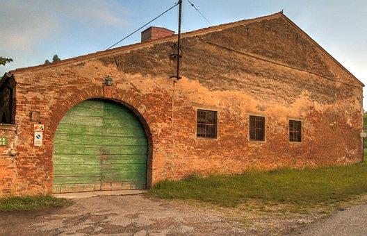 Building, Old, Brick, Arch, Door, Country, Scene
